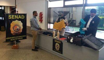 Detienen a ciudadano brasileño con droga en el Silvio Pettirossi