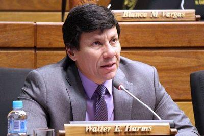 Diputado Walter Harms cuestiona la pérdida de investidura