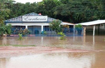 Llovió 241 mm en Yby Yaú  y  arroyo casi corta la ruta 5