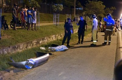 Motociclista murió tras una carrera clandestina