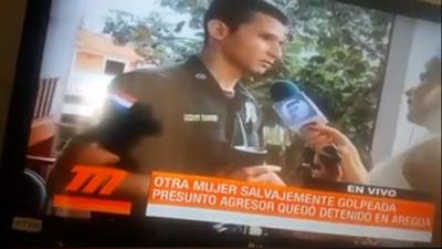 Gabi León enfrentó a oficial de Policía