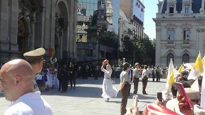 Joven paraguaya danzó ante el Papa Francisco en Chile
