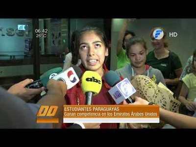Jóvenes paraguayas triunfaron en Dubái