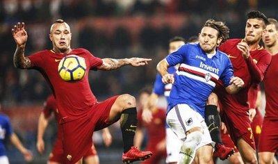 La Sampdoria de Édgar Barreto hunde a Roma en el Estadio Olímpico
