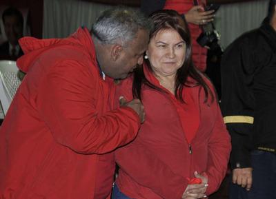 Odila Báez, jefa de campaña en el centro