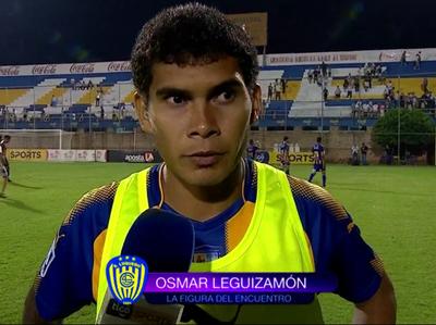 Osmar Leguizamón fue la figura del partido