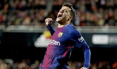 Coutinho rompe el guión del Valencia y mete al Barça en la final