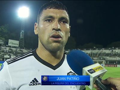 Juan Patiño, figura del partido