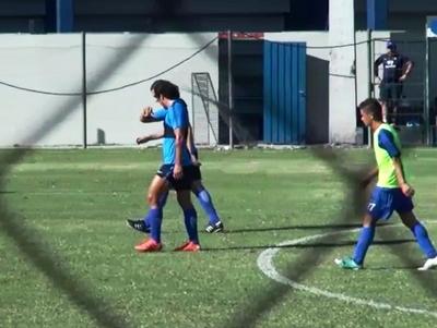 Haedo marcó un gol en el ensayo futbolístico