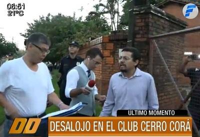 Desalojan predio utilizado por el Club Cerro Corá
