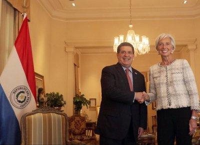 Lagarde resalta economía sólida del Paraguay