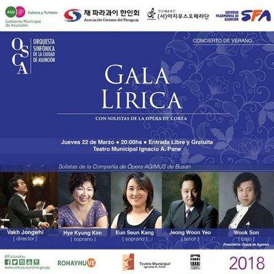 Gala Lírica de la Osca con participación de renombrados solistas coreanos