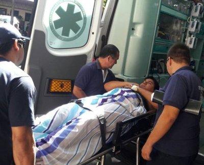 Funcionario de Comuna quedó con herida grave