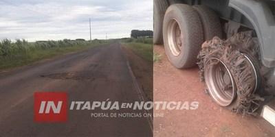 ALERTA: CALAMITOSO ESTADO DE LA RUTA GRANEROS DEL SUR EN