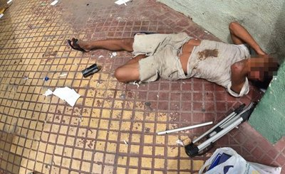 Un joven adicto al crac convulsionó en la vía pública