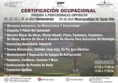 Certifican a profesionales empíricos