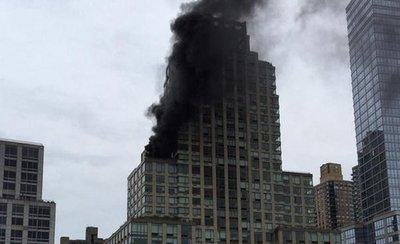 Un herido grave por incendio en la Torre Trump
