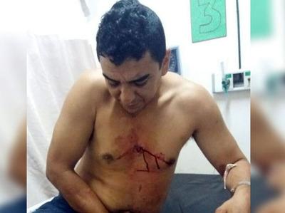 Buscado por la justicia queda detenido tras ser herido