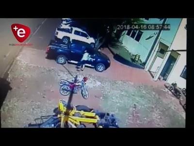 Así fue el robo en la Municipalidad de Cambyreta