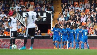 Getafe se lleva el triunfo ante el Valencia
