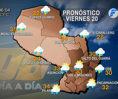 Lluvias de variada intensidad en todo el territorio nacional