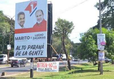 Candidatos no retiran carteles y violan el Código Electoral