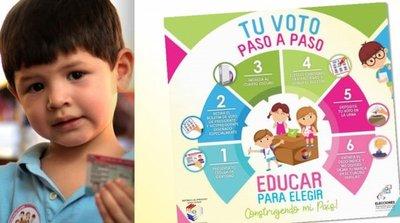 Niños y adolescentes podrán votar de manera simbólica