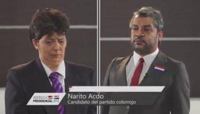 Humoristas parodian debate presidencial entre Alegre y Abdo Benítez
