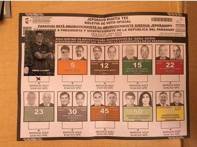 Churín logró varios votos para la Presidencia