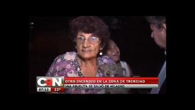 Abuela de 80 años se salvó de milagro en un incendio