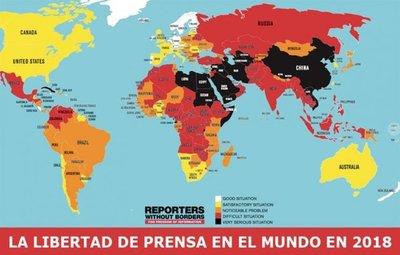 RSF: Libertad de prensa en LatAm es preocupante