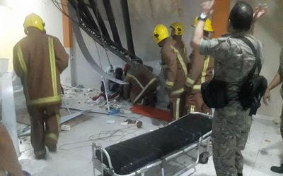 Varios heridos tras derrumbe de un local de eventos en Concepción