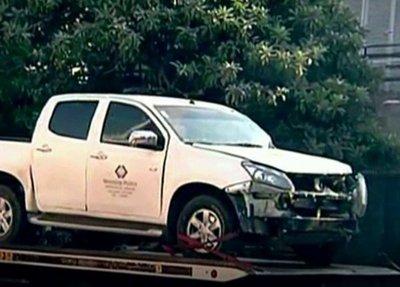 Vehículo de la Fiscalía involucrado en accidente