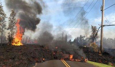 Erupciones de lava destruyen cinco casas en Hawái