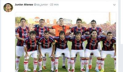 Picante posteo de Junior Alonso tras el triunfo de Cerro ante Olimpia