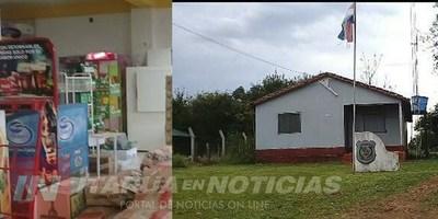 LADRONES VACIARON LOCAL COMERCIAL EN TOMÁS R. PEREIRA.