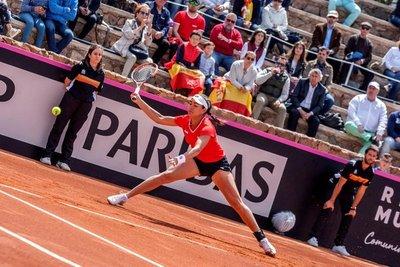 Montse entró en semis de dobles en ITF de España