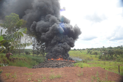 Habilitan Whatsapp  para denunciar  quema de basura