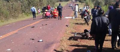 Accidente con derivación fatal en Itapúa