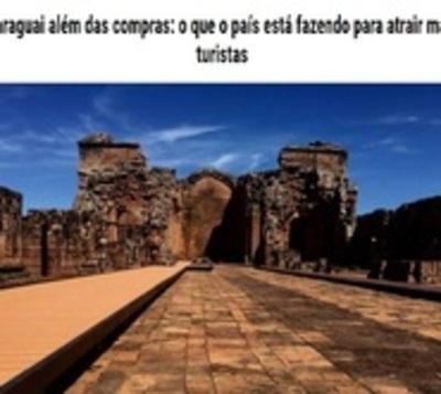 Medio brasileño destaca a Paraguay como destino turístico