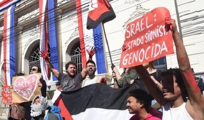 Protestan contra decisión de Cartes sobre traslado de embajada a Jerusalén