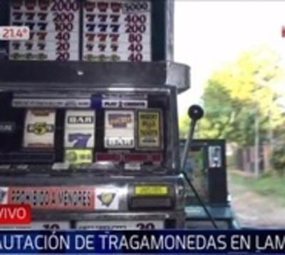 Sigue la guerra contra tragamonedas: Incautan máquinas en Lambaré
