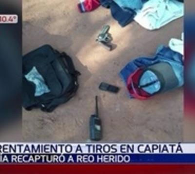 Recapturan a recluso tras enfrentamiento a tiros en Capiatá