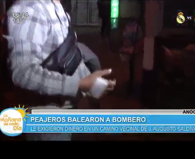 Bombero atajó la bala con su mano durante un asalto