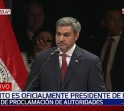 Mario Abdo es proclamado presidente de la República