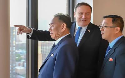 Mike Pompeo recibió en Nueva York al vicepresidente norcoreano