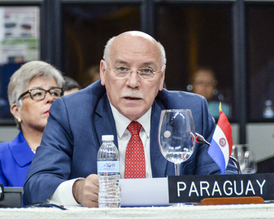 Por fin de gobierno, Loizaga preside la Asamblea de la OEA