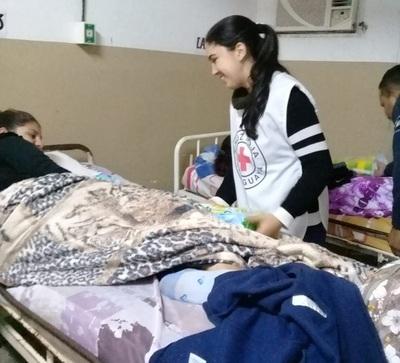 Cruz Roja,Concepción, coopera con recién nacidos