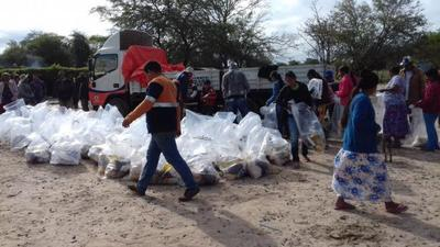Más de 1.500 familias afectadas por la sequía en Pdte. Hayes recibieron víveres