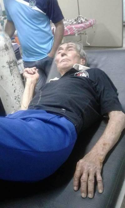 Rescatan a abuelito maltratado por su hija